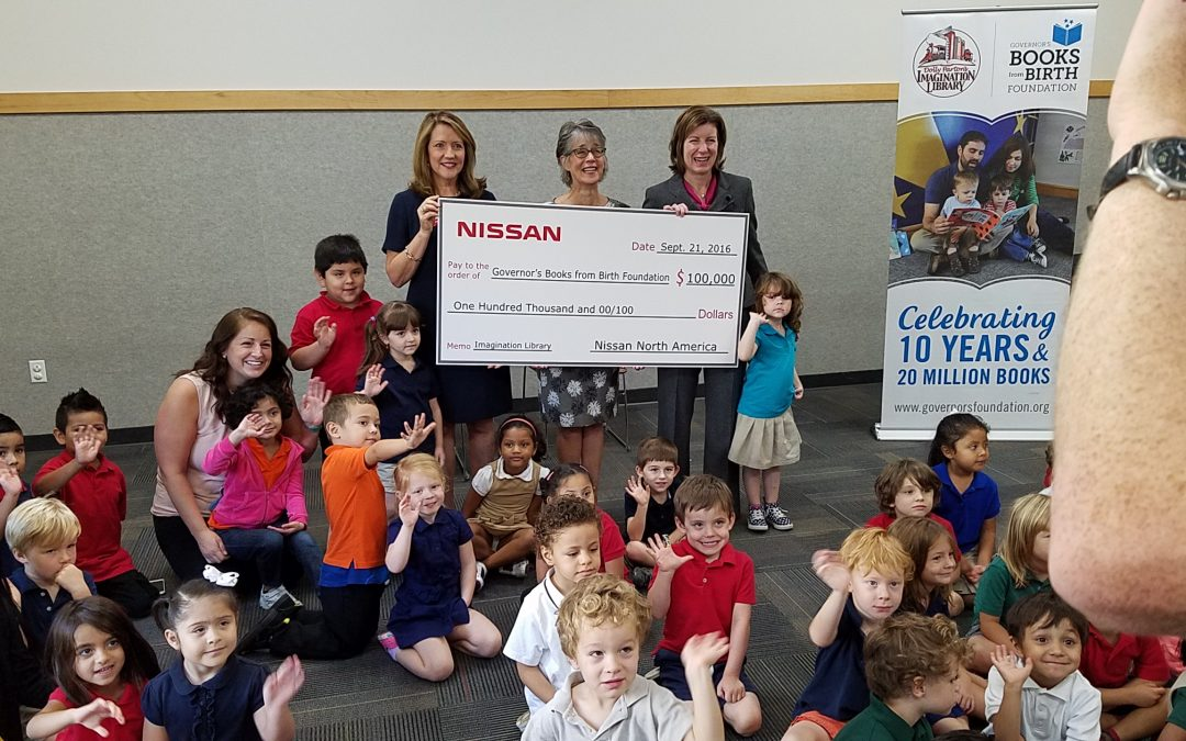 Nissan Awards $100,000 to Governor's Books from Birth Foundation for Tennessee's Imagination Library