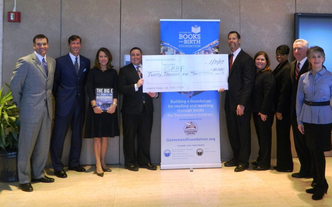 Enterprise Holdings of Tennessee Received Jack Taylor Founding Values Award and Makes $20K Gift to Governor's Books from Birth Foundation