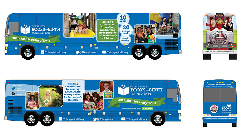 GOVERNOR'S BOOKS FROM BIRTH CELEBRATES 10TH ANNIVERSARY WITH MONTH LONG STATEWIDE BUS TOUR