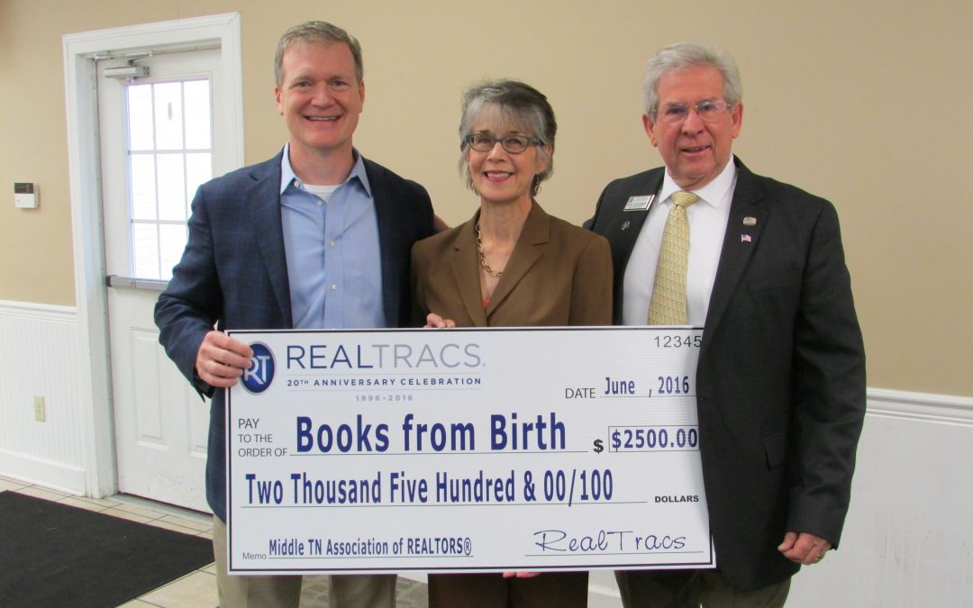 Governor's Books from Birth Foundation receives major donation from Middle Tennessee Association of Realtors