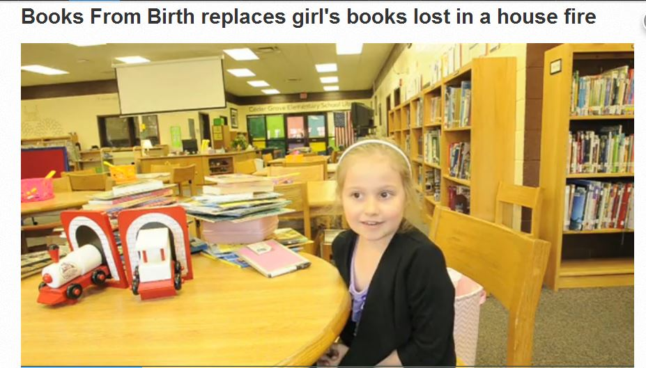 Rutherford County Imagination Library and Governor's Books from Birth replace books lost in a house fire
