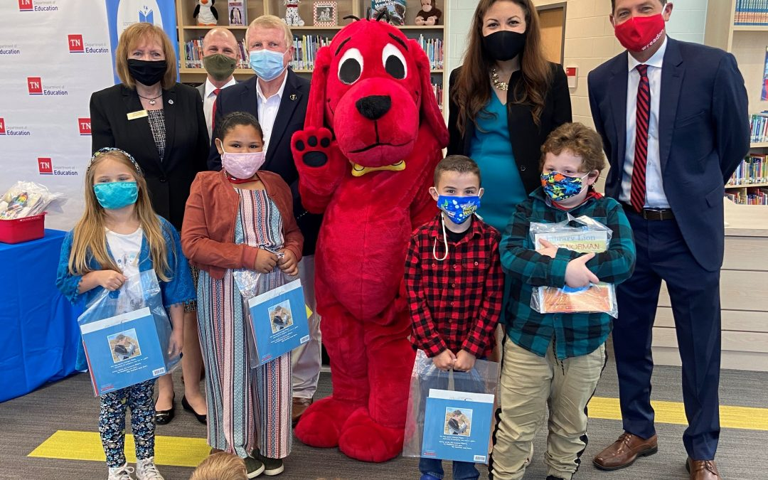 GOVERNOR'S EARLY LITERACY FOUNDATION, SCHOLASTIC AND TN DEPARTMENT OF EDUCATION TO PROVIDE 580,000 BOOKS TO K-3 STUDENTS AND TEACHERS IN TENNESSEE