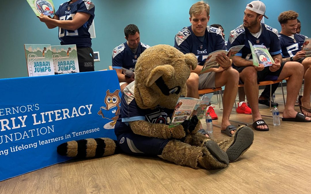 Tennessee Titans Rookies Make Community Debut with Story Time in Support of Governor's Early Literacy Foundation